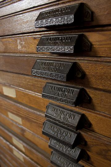 Hamilton drawer | Briar Press | A letterpress community