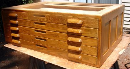 Oak Flat Map File Cabinet Stacker Hamilton Briar Press