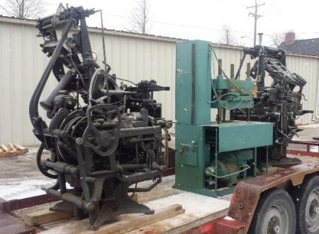 Linotype type setting machine parts Ludlow | Briar Press | A