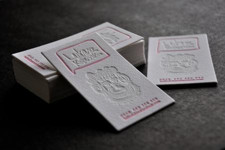 Letterart printing studio briar press a letterpress community image business card 500 gsm reheart Images