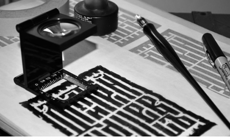 image: Tracing the computer printout
