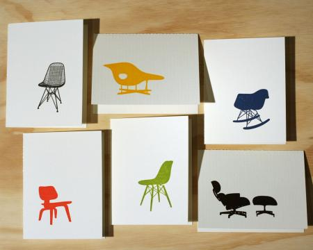 image: Eames Chair Letterpress Cards