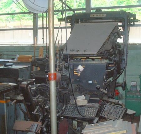 Print shop business selling out linotype machines & more