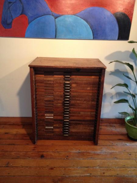 Hamilton Case Cabinet Type And Gear Briar Press A