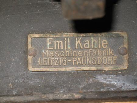 Table Top Platen Press Emil Kahle Chase Size Briar