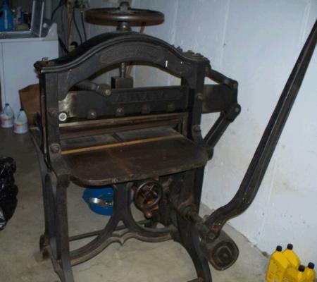 Antique Paper Cutter Briar Press A Letterpress Community