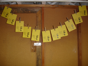 image: My save-the-dates hanging out to dry