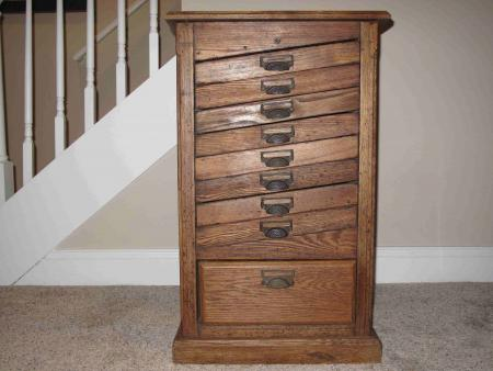 image: Type Cabinet 2 - Copy.JPG - Identifying A Matrix Cabinet Briar Press A Letterpress Community