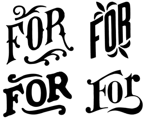 image: Four fors