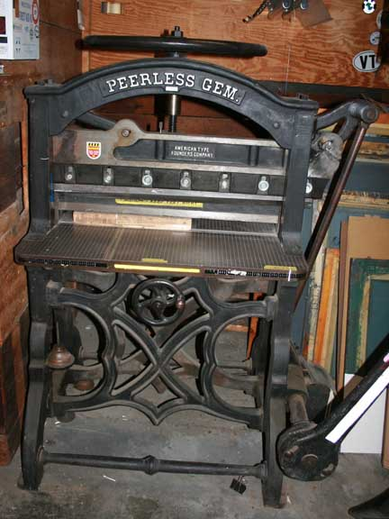 Peerless Gem Paper Cutter Briar Press A Letterpress