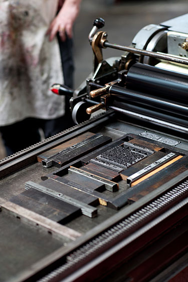 image: Vandercook Letterpress at the San Francisco Center for the Book