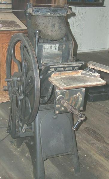 antique printing equipment briar press a letterpress